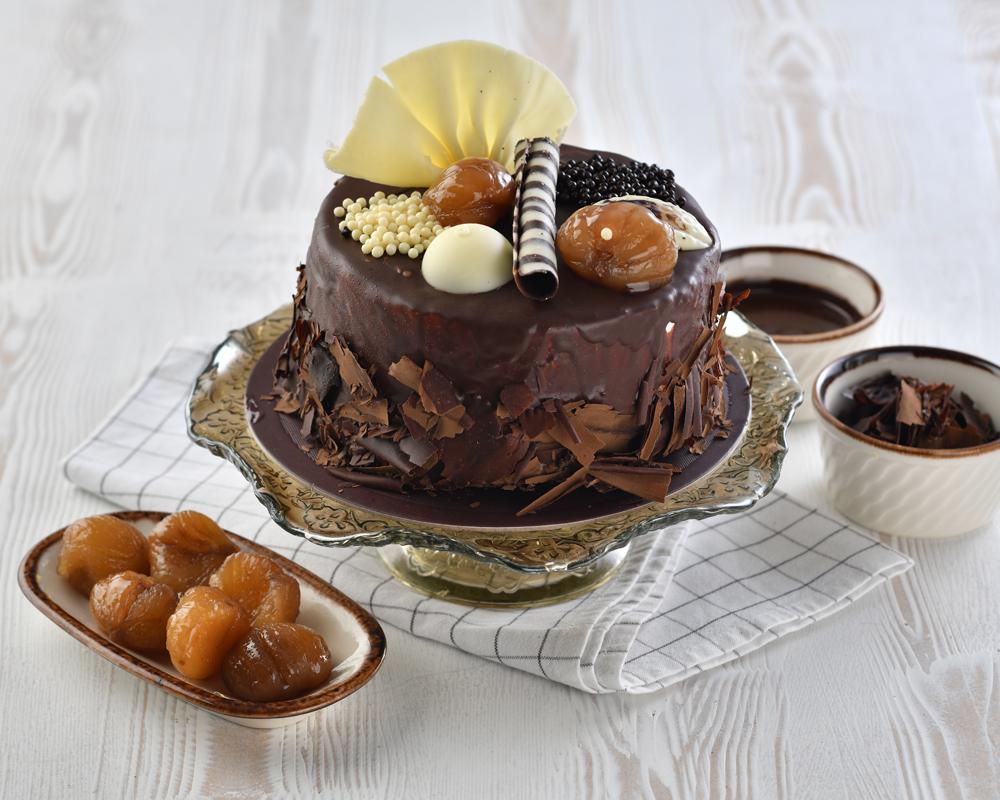 Çikolatalı Kestaneli Pasta